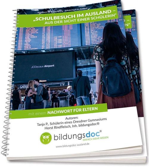 """Das Handbuch """"Schüleraustausch"""" ist im Buchshop bestellbar."""